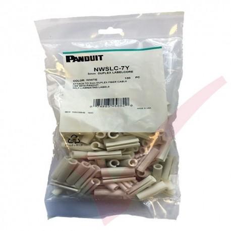 White Panduit Identification Sleeve For 3mm Duplex Fibre Cables 100 Pack