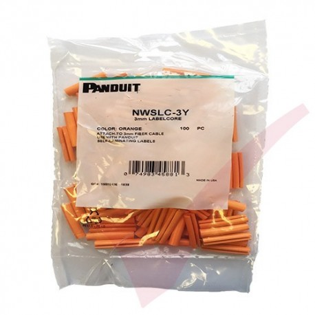 Orange Panduit Identification Sleeve For 2mm Simplex Fibre Cables 100 Pack