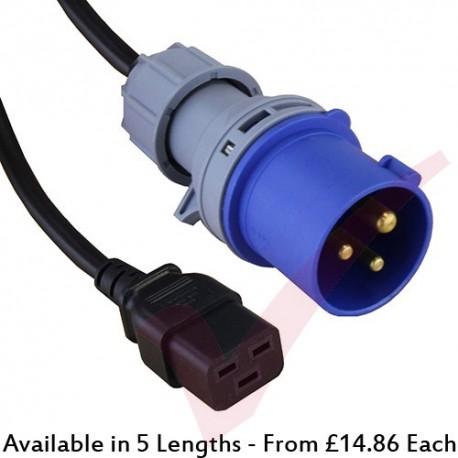 16Amp Commando  to C19 16A Power Cables