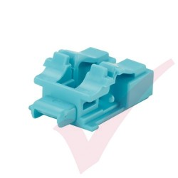 Panduit LC Duplex Blockout Device 10 Pack Aqua - PSL-LCAB-AQ