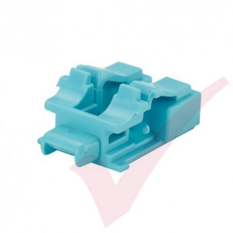 Panduit LC Duplex Blockout Device 10 Pack Aqua - PSL-LCAB-AQ
