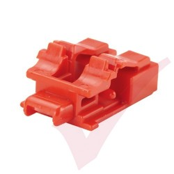 Panduit LC Duplex Blockout Device 10 Pack Red - PSL-LCAB