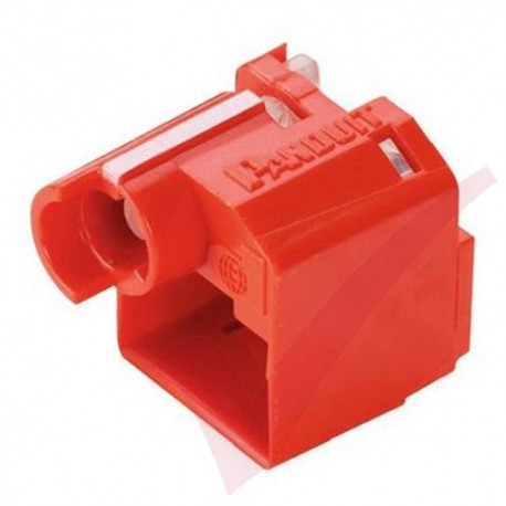 Panduit RJ45 Recessed Lock-In Devices - 10x RJ45 Plug Lock Inserts & Removal Tool in Red PSL-DCPLRX