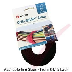 Velcro Brand One-Wrap Strap Black 25pcs Roll