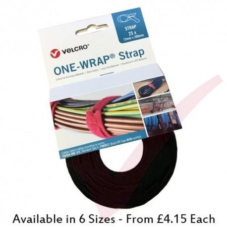 Velcro Brand One-Wrap Strap Black 25pcs Roll