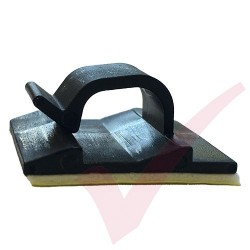 8mm Self Adhesive Cable Clips Black 100 Pack
