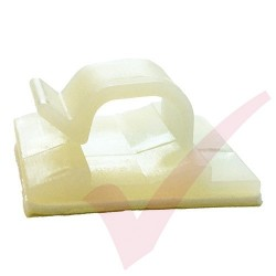 8mm Self Adhesive Cable Clips Natural 100 Pack