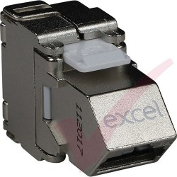 Excel Cat6A STP Screened Angled Keystone Toolless Jack 100-185