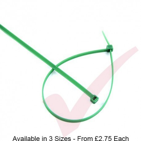 Green Nylon Cable Ties (100 Pack)