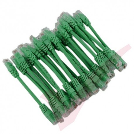 24 Pack of 15cm (6-inch) in Green - Cat6 High Grade 250MHz 24AWG LSZH Patch Cables for 1U Patching