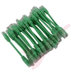 24 Pack of 15cm (6-inch) in Green - Cat5e High Grade 125MHz 24AWG LSZH Patch Cables for 1U Patching