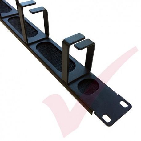 1U 4 Ring Brush Strip Panel Management Bar