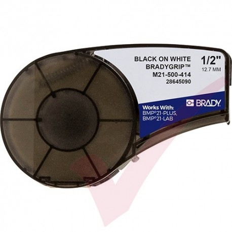 Brady 12.7mm BradyGrip Print-on Hook Material M21-500-414