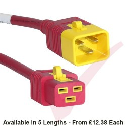 C19 to C20 'V-Lock' Power Cable Red