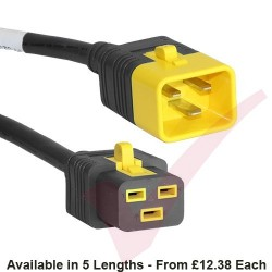 C19 to C20 'V-Lock' Power Cable Black