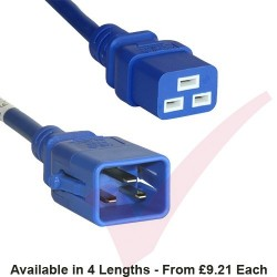 C19 to C20 'P-Lock' Power Cable Blue