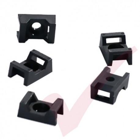 Black Cable Tie Cradle - 100 Pack