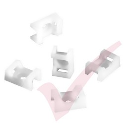 Neutral Cable Tie Cradle - 100 Pack