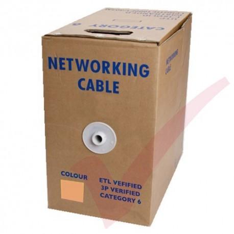 Stranded Cat6 UTP Premium LSZH 305 Metre Bulk Cable Orange