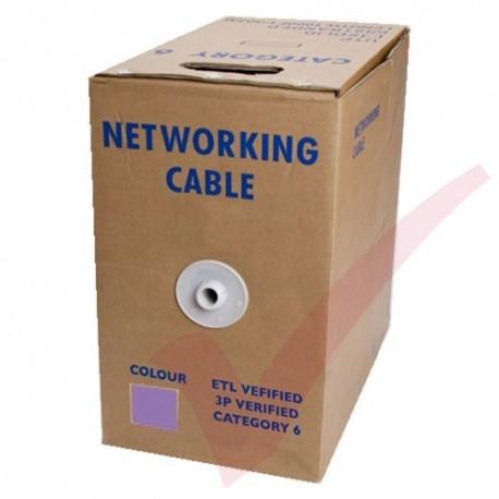 Stranded Cat6 UTP Premium LSZH 305 Metre Bulk Cable Purple