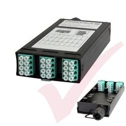 Zettonics LC OM4 Multimode 12 Duplex Unloaded Fibre Cassette Aqua