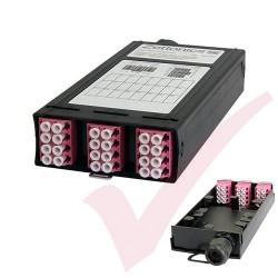 Zettonics LC OM4 Multimode 12 Duplex Unloaded Fibre Cassette Violet
