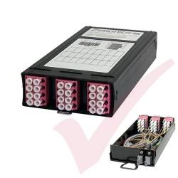 Zettonics MTP/MPO LC OM4 Multimode 12 Duplex Fibre 2x MTP Cassette Violet (Polarity A/C)