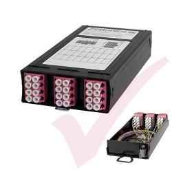 Zettonics MTP/MPO LC OM4 Multimode 12 Duplex Fibre 1x MTP Cassette Violet (Polarity A/C)