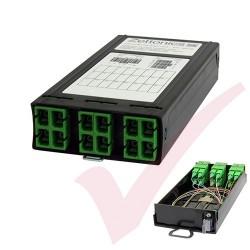 Zettonics MTP/MPO SC/APC OS2 Singlemode 6 Duplex Fibre Cassette (Polarity A/C)
