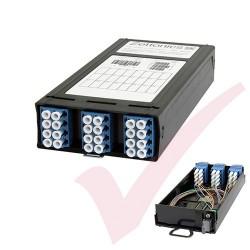 Zettonics MTP/MPO LC OS2 Singlemode 12 Duplex Fibre to 1x MTP Cassette (Polarity A/C)