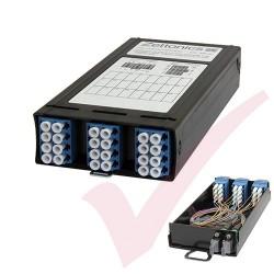 Zettonics MTP/MPO LC OS2 Singlemode 12 Duplex Fibre to 2x MTP Cassette (Polarity A/C)
