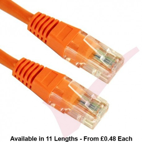 Cat5e Patch Cables Enhanced RJ45 UTP PVC Flush Booted Orange