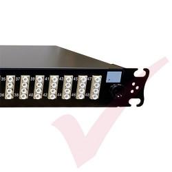 1U LC Duplex Sliding Patch Panel Loaded With 48 LC Duplex Multimode Adaptors