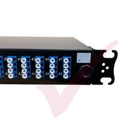 1U LC Duplex Sliding Patch Panel Loaded With 48 LC Duplex Singlemode Adaptors