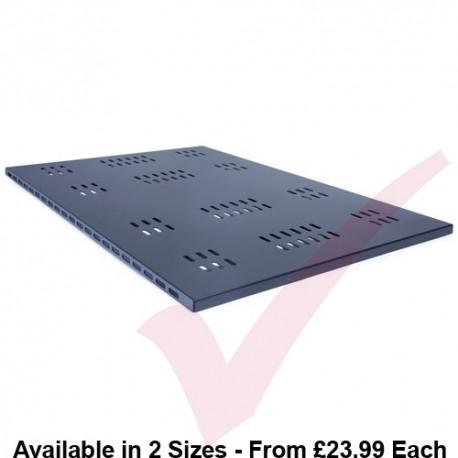 Prism PI Fixed Vented Shelf Black For Data & Server Cabinets