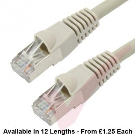 Cat6a Patch Cables RJ45 S/FTP (10G) Premium LSZH Bubble Booted Grey