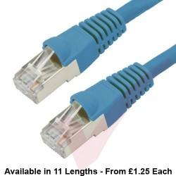 Cat6a Patch Cables RJ45 S/FTP (10G) Premium LSZH Bubble Booted Blue