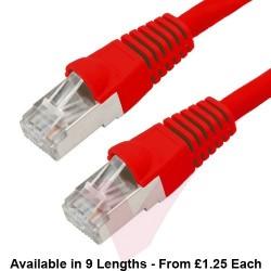 Cat6a Patch Cables RJ45 S/FTP (10G) Premium LSZH Bubble Booted Red