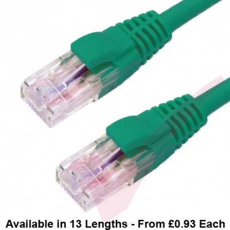 Cat6 Patch Cables RJ45 UTP Premium LSZH Snagless Booted Green