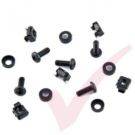 M6 Cage Nuts & Screws (bag of 50) in Black