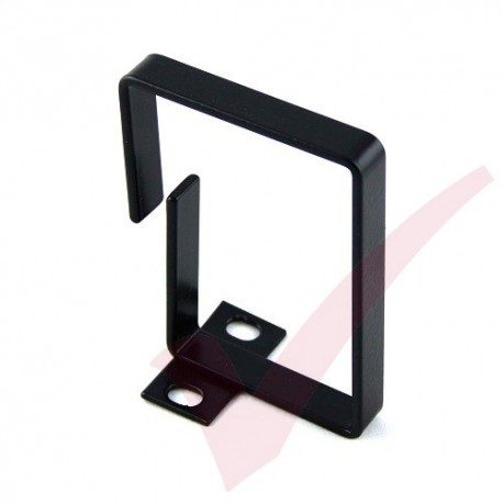 Black 100mm x 75mm Bolt-on Cable Management Ring